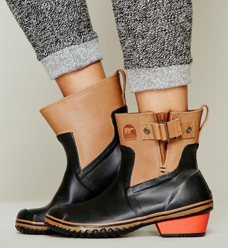 Sorel slimpack riding rain boots, $130
