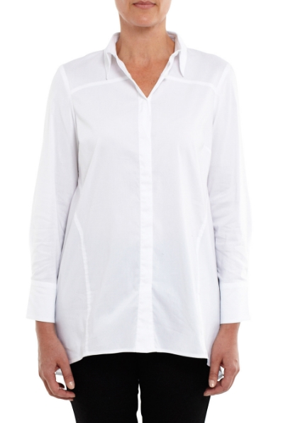 Blue-Illusion-Long-Sleeve-White-Blouse