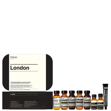 Indulge the mom-on-the-go with travel-sized essentials from  Aesop , including Mouthwash and Parsley Seed skin care formulations. $75