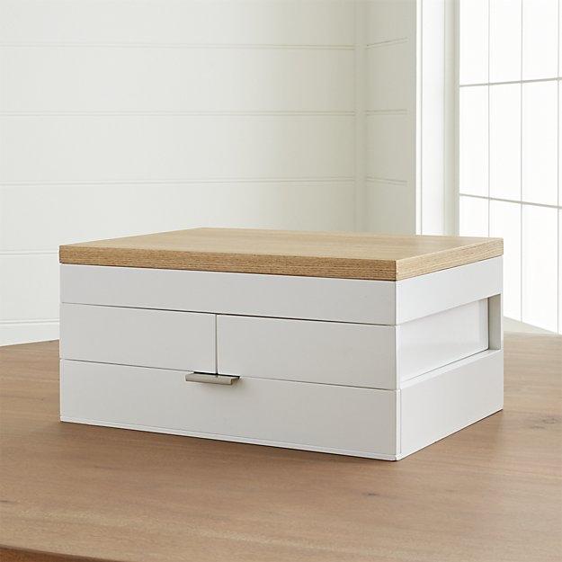 Selma White Jewelry Box, $149