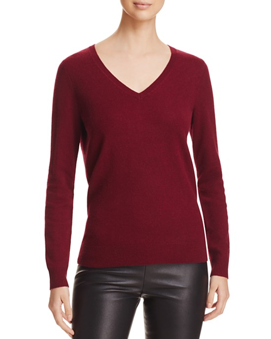 C by Bloomingdales Cashmere V-Neck