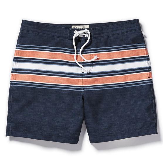 Penguin striped swim trunks, $79