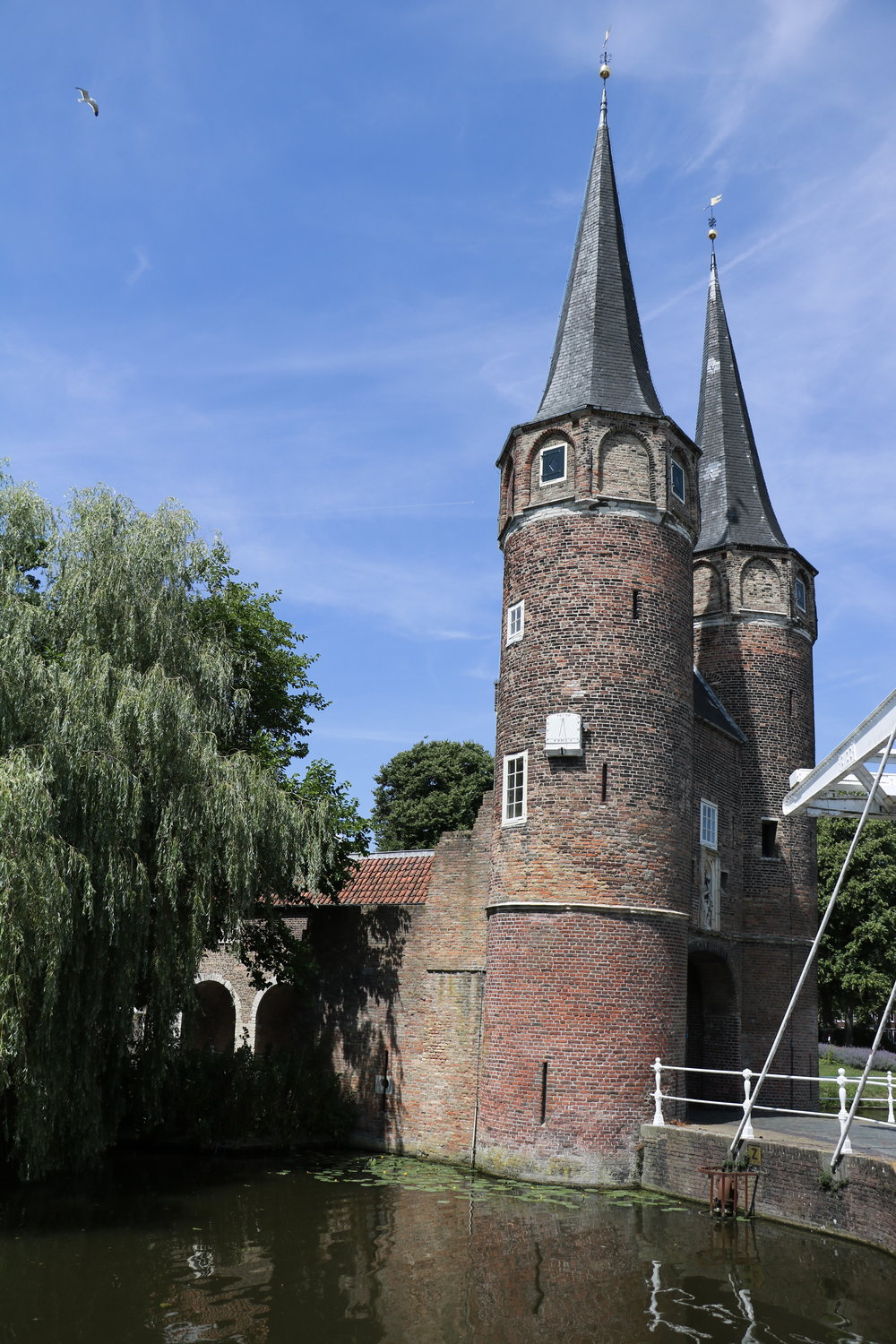 Delft-old-drawbridge-and-towers