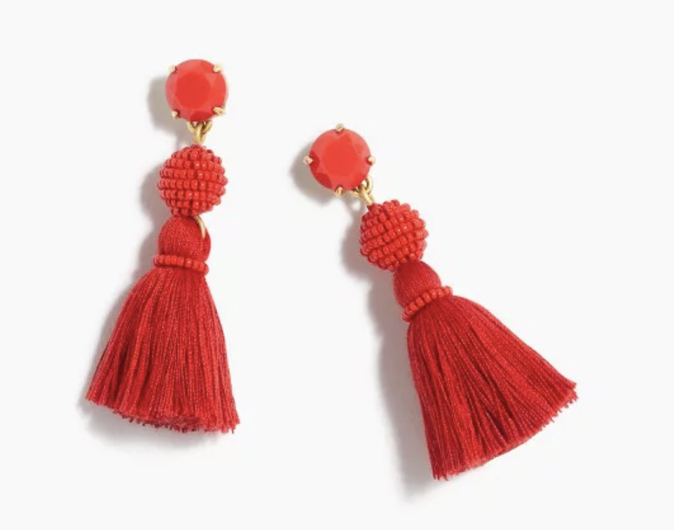 J.Crew Tassel Ball Earrings $24.50