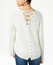 American Rag Lace-Back Cotton Sweater $23.99 (sale)
