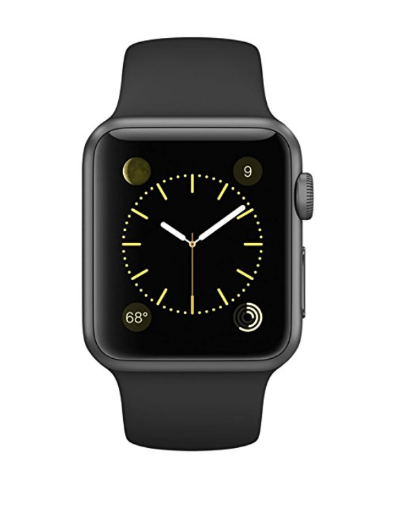 Apple Watch Series 1 38mm Space Gray Aluminum with Black Sport Band $192.73