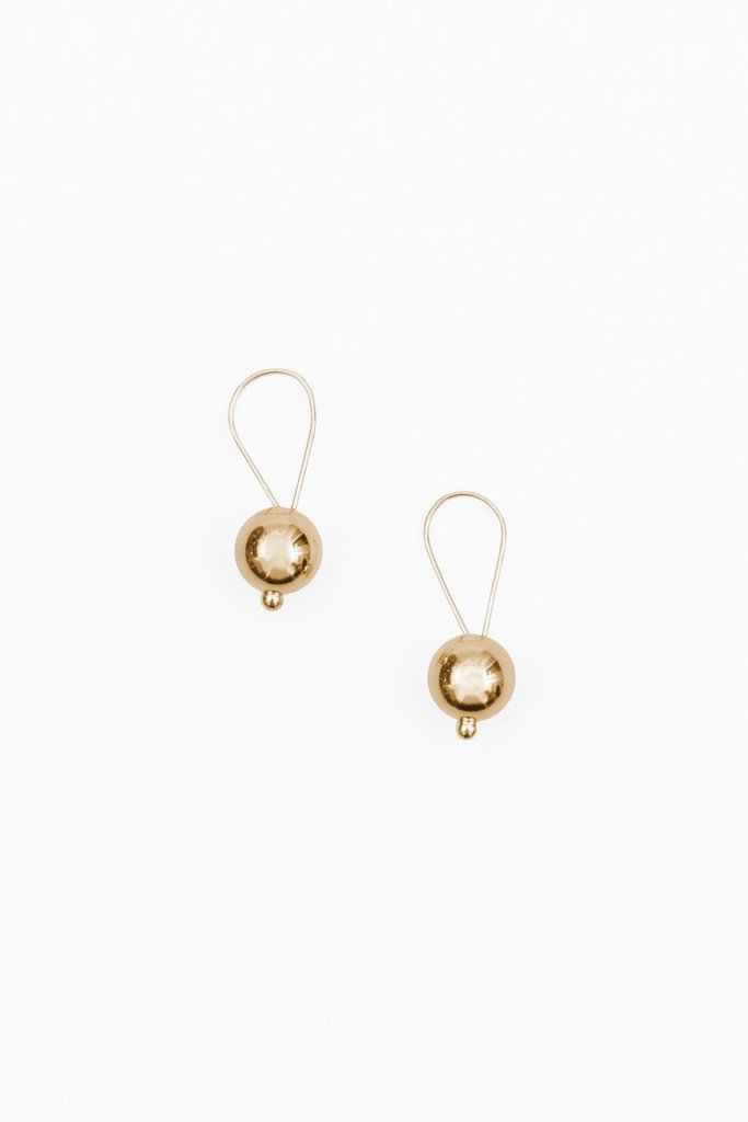 14K Gold Looped Drop Earrings $142