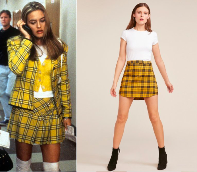 Left: Cher from Clueless, 1995 Right, Fall 2018 BB Dakota