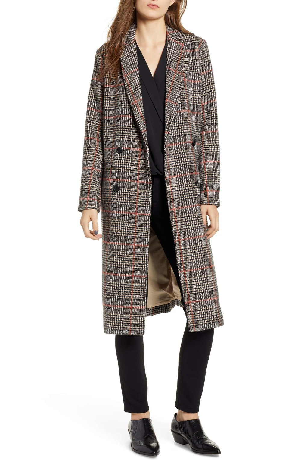 Cupcakes and Cashmere Plaid Duster Jacket $178