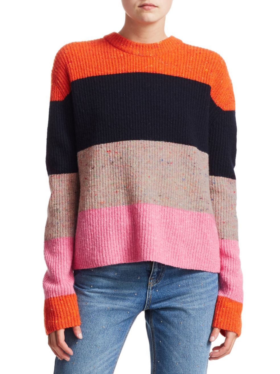 Georgina Bold Stripe Knit Sweater, $395