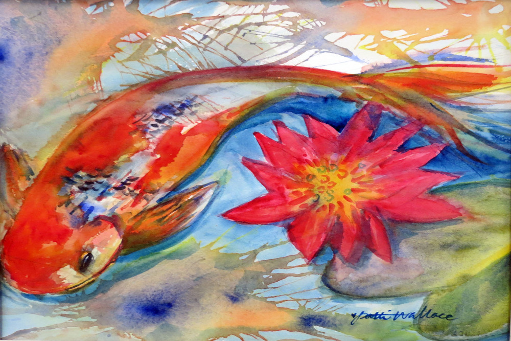 Koi and Lily by Patti Wallace.JPG