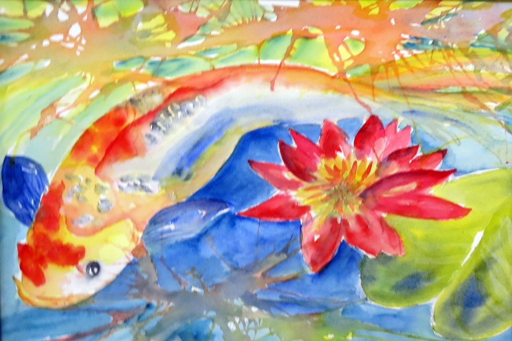 Koi with Lily by Annette.JPG