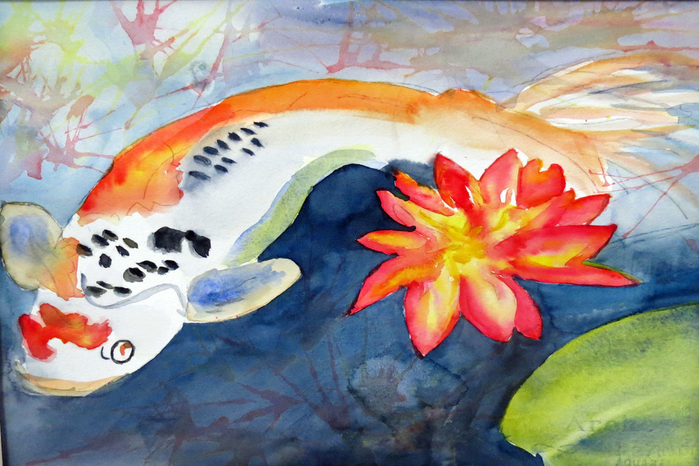 Koi with Lily by Connie.JPG