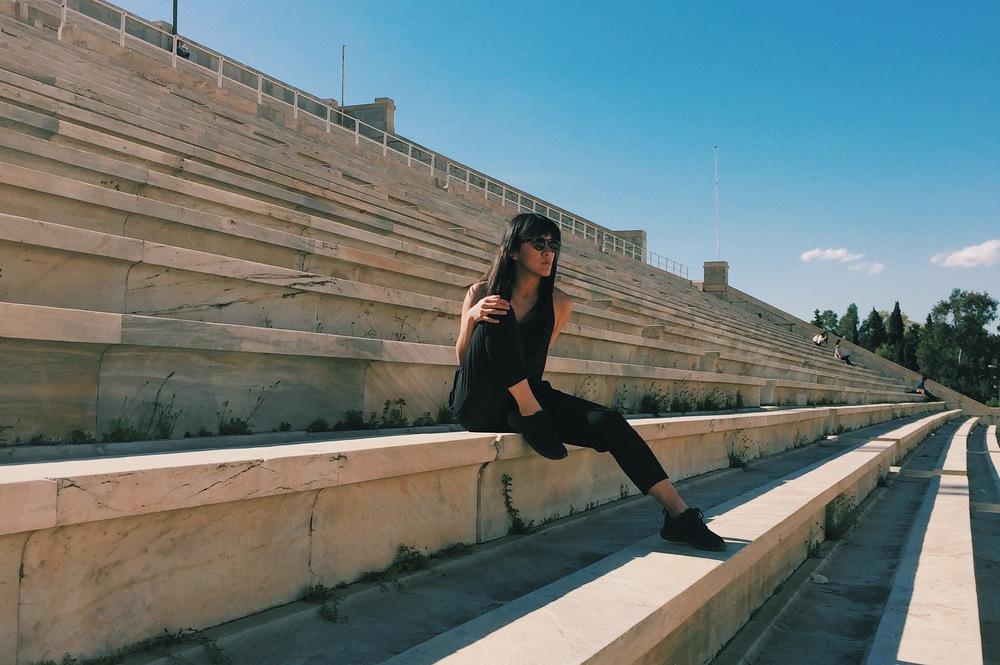 Panathenaic Stadium, Athens. Jumpsuit by  ADAY .