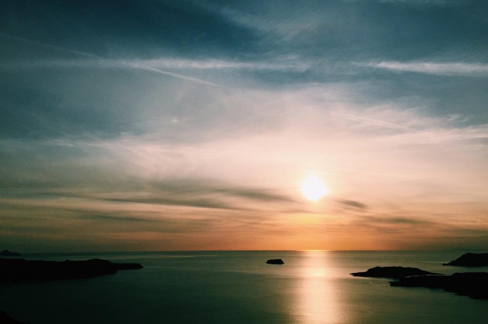 Sunset on Santorini.