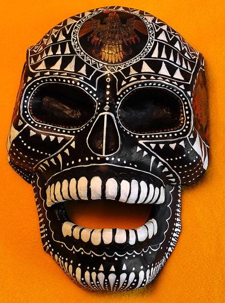 Black Calavera mask by Diego Marcial Rios
