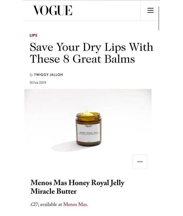 Where's the lie?! ⠀⠀⠀⠀⠀⠀⠀⠀⠀⠀⠀⠀ @britishvogue said it, we're just here for the approval 💫💥 ⠀⠀⠀⠀⠀⠀⠀⠀⠀⠀⠀⠀ Winter may be coming to a close, but our miracle butter is here to #FeedYourSkin year round. ⠀⠀ ⠀⠀⠀⠀⠀⠀⠀⠀⠀⠀⠀⠀ ⠀⠀⠀⠀⠀⠀⠀⠀⠀⠀ Moisturize, it's the @voguebeauty way  #MenosMas  #SkinFood