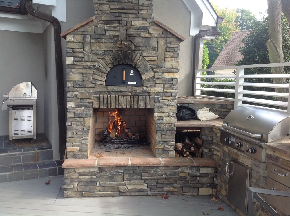 Outdoor Fireplace outdoor fireplace with pizza oven : Outdoor Pizza Ovens & Smokers — Unlimited Outdoor Kitchens