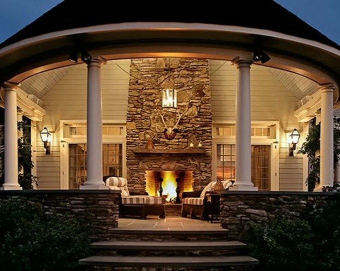 Outdoor fireplaces unlimited outdoor kitchens Prefab outdoor wood burning fireplace