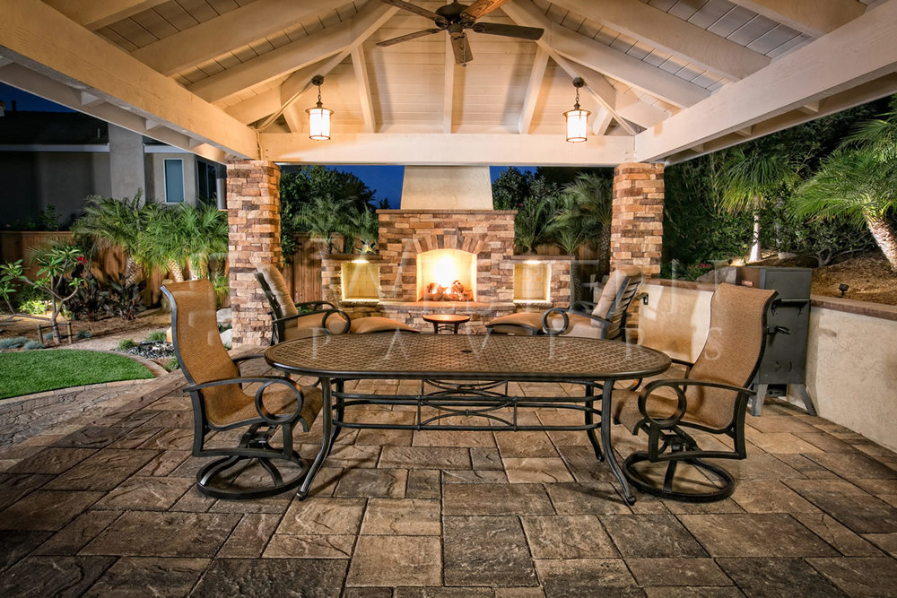 Outdoor fireplaces unlimited outdoor kitchens Outdoor room with fireplace