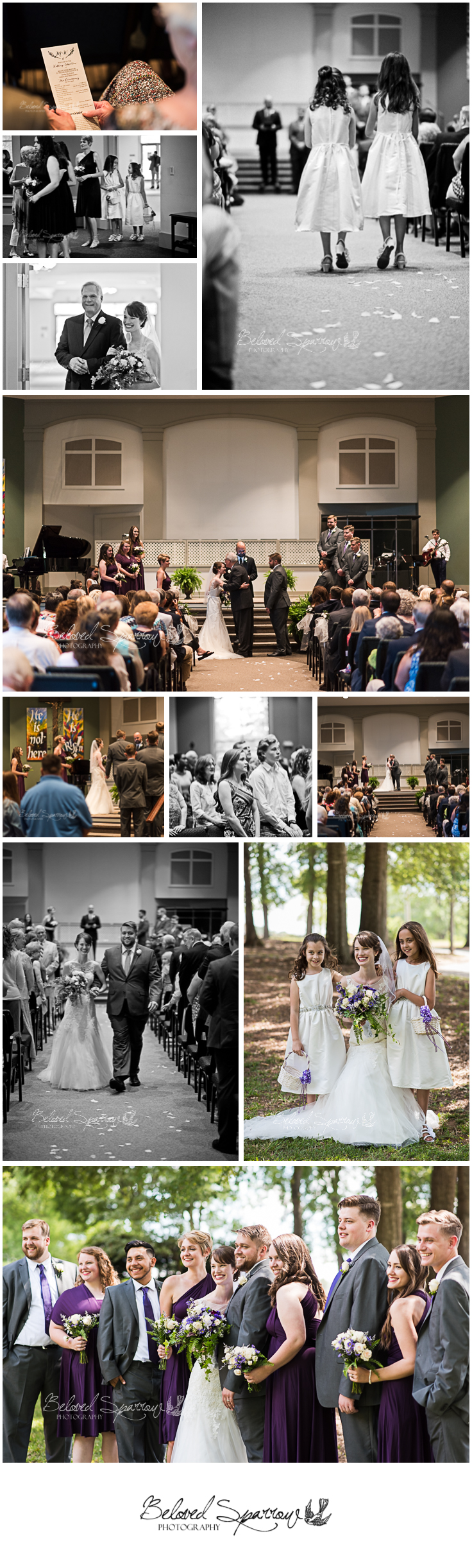 wedding ceremony at Clemson Presbyterian by Atlanta wedding Photographer Jeannine Hodges