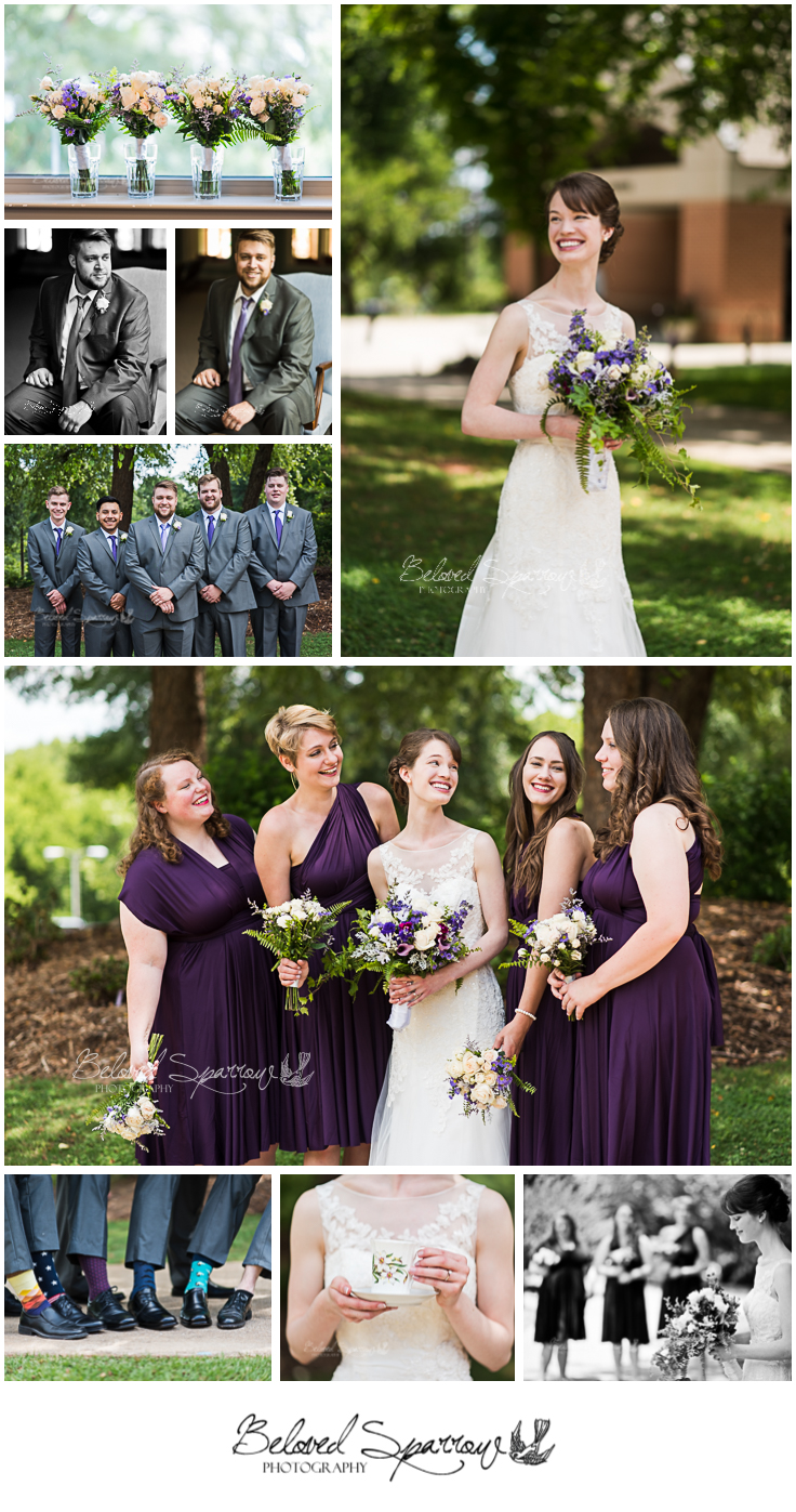 Bridal party portraits by Atlanta wedding Photographer Jeannine Hodges