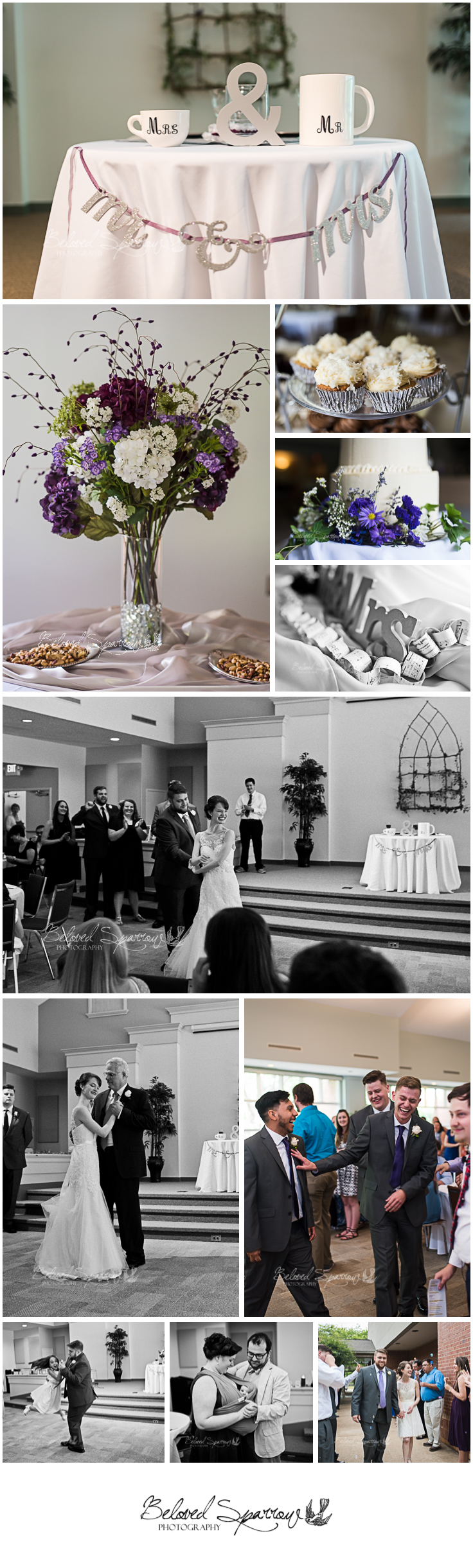 Wedding reception at Clemson Presbyterian church by Atlanta wedding photographer Jeannine Hodges
