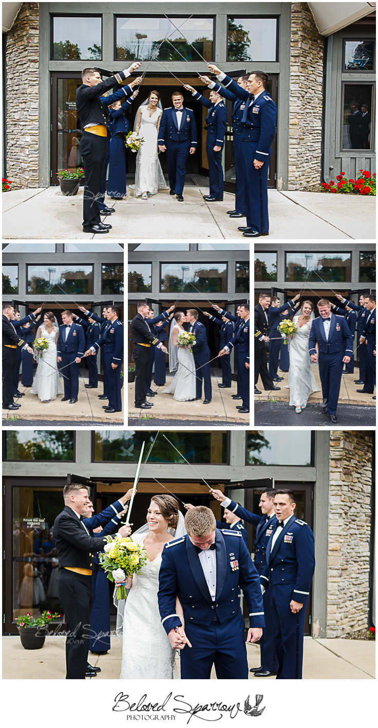 USAFA wedding through arch by Atlanta Photographer