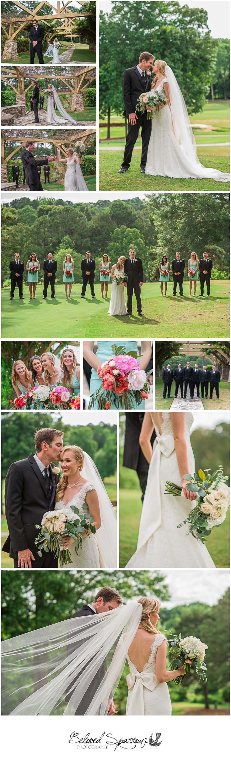 Wedding photography at Flat Creek Country Club in Peachtree City GA