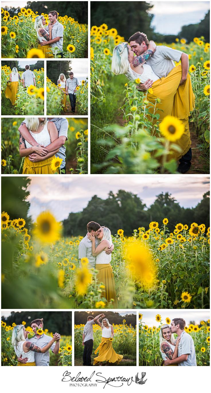 Sunflower Engagement Photography