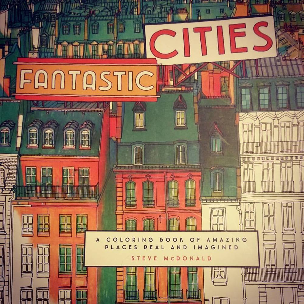 a date night in the big city...and a new coloring book!