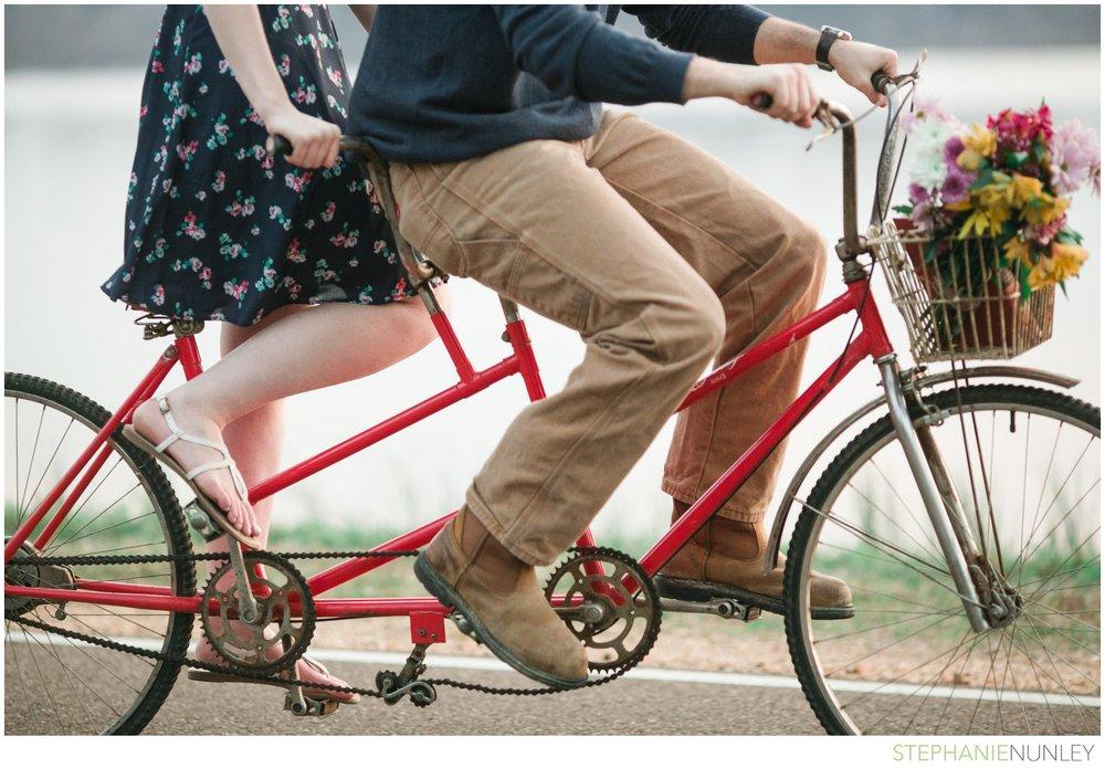 tandem bike engagement photos