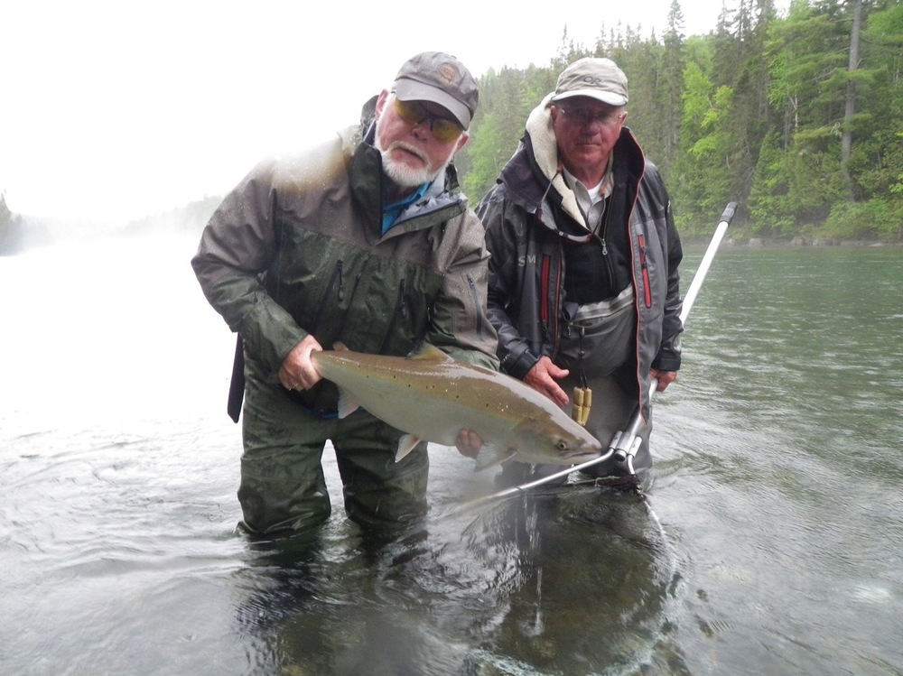 Randy Hartland with Camp Bonaventure guide Orrin Briard, nice fish Randy!