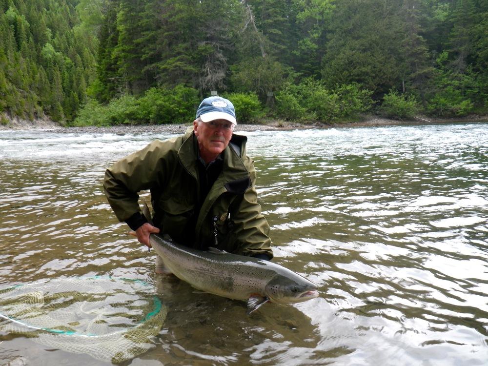 Norwegian Ole Petersen puts a nice one back in the Bonaventure, nice fish Ole!