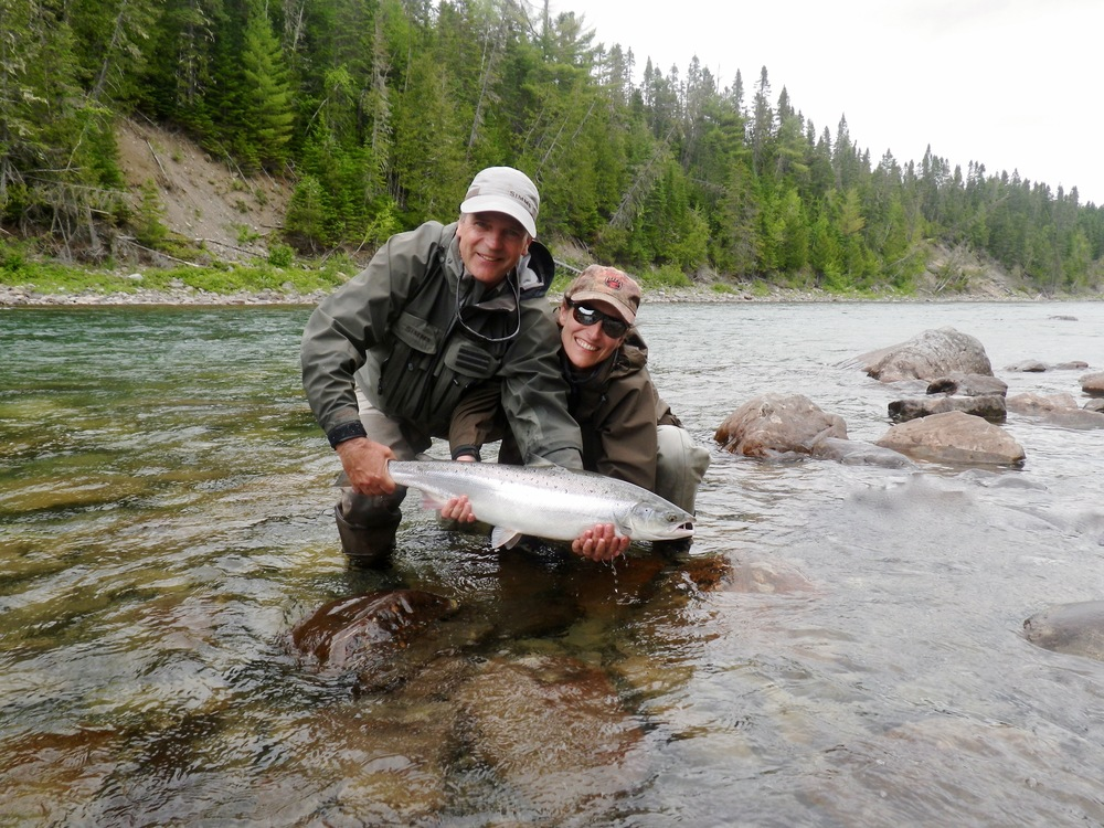 Andreas and Rebecca are from Switzerland, this was their second time to Camp Bonaventure, nice fish! Congratulations.