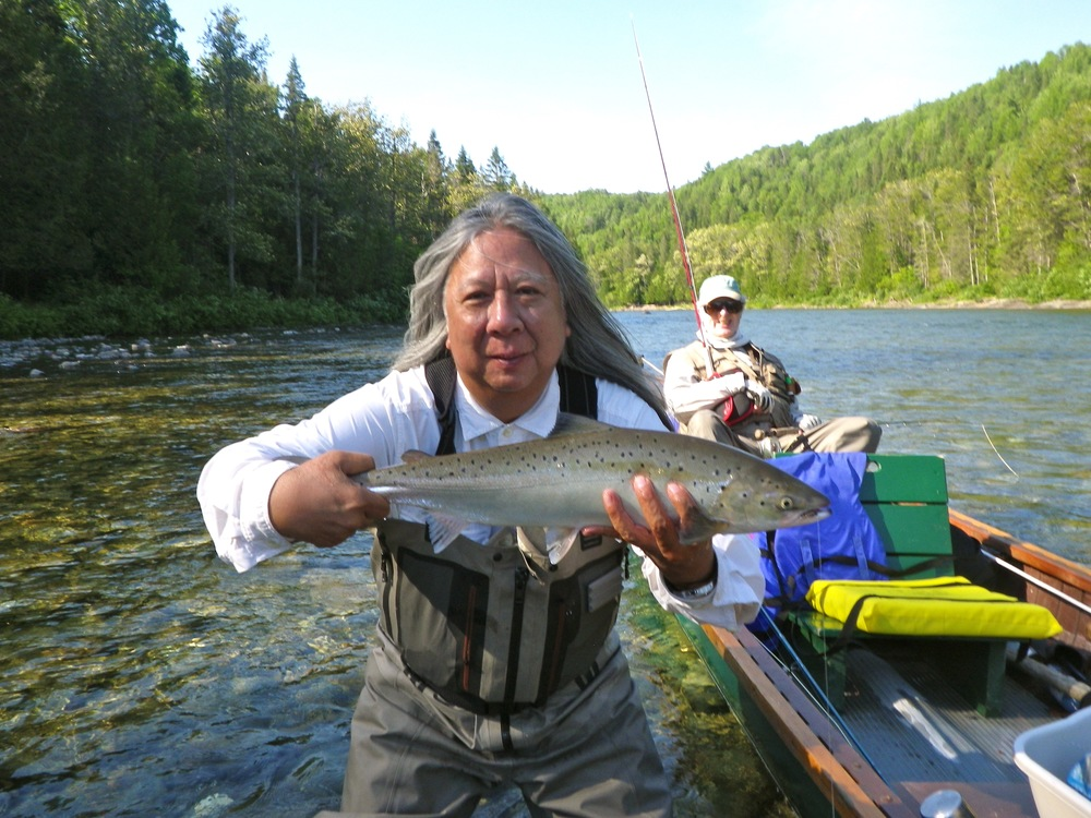John Rocha with his first Bonaventure fish, this on was a girls but the rest were salmon! Nice fishing John!