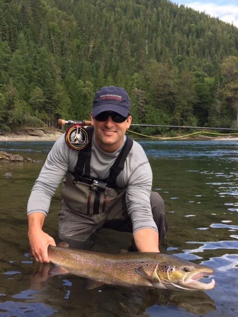 Joe McKinnon with his first Bonaventure Salmon, Congratulations Joe!