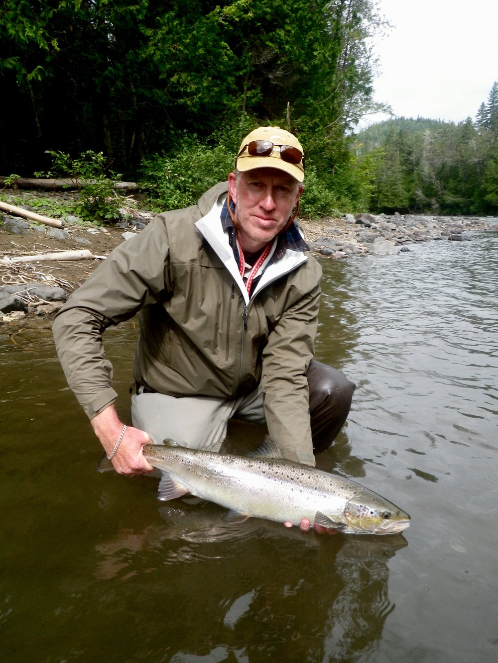 Connor Wallace landed this nice salmon on the Bonaventure, Congratulations Connor!