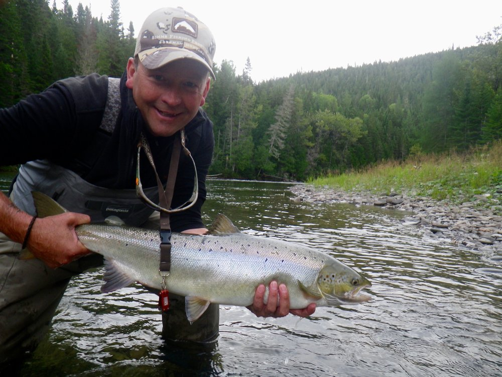 Gregory Cope landed a number of find salmon last week, here's a nice one from the Petite Cascapedia. nice salmon Gregory!