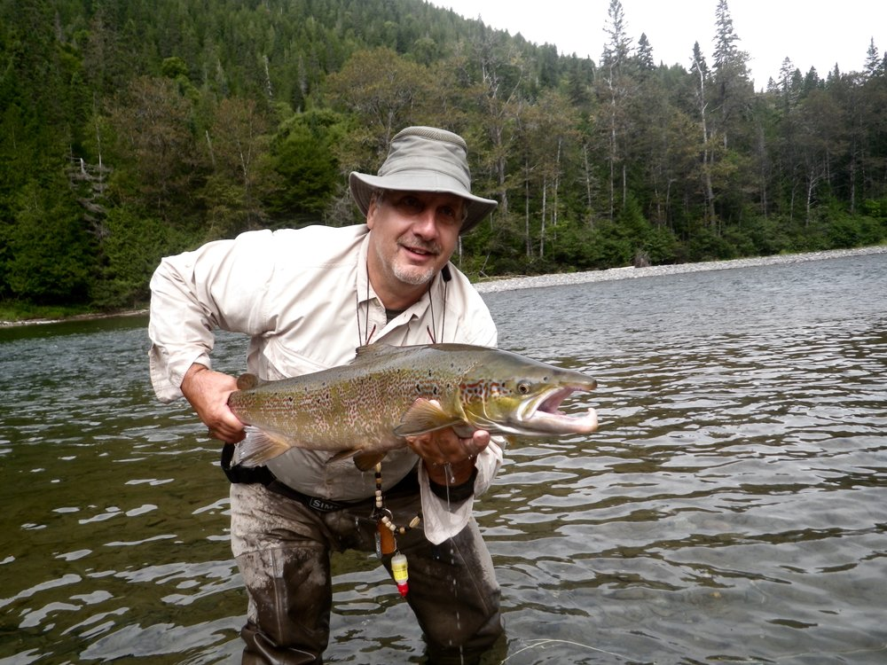 Gaetan Joly lands yet  another fine salmon, nice one Gaetan!