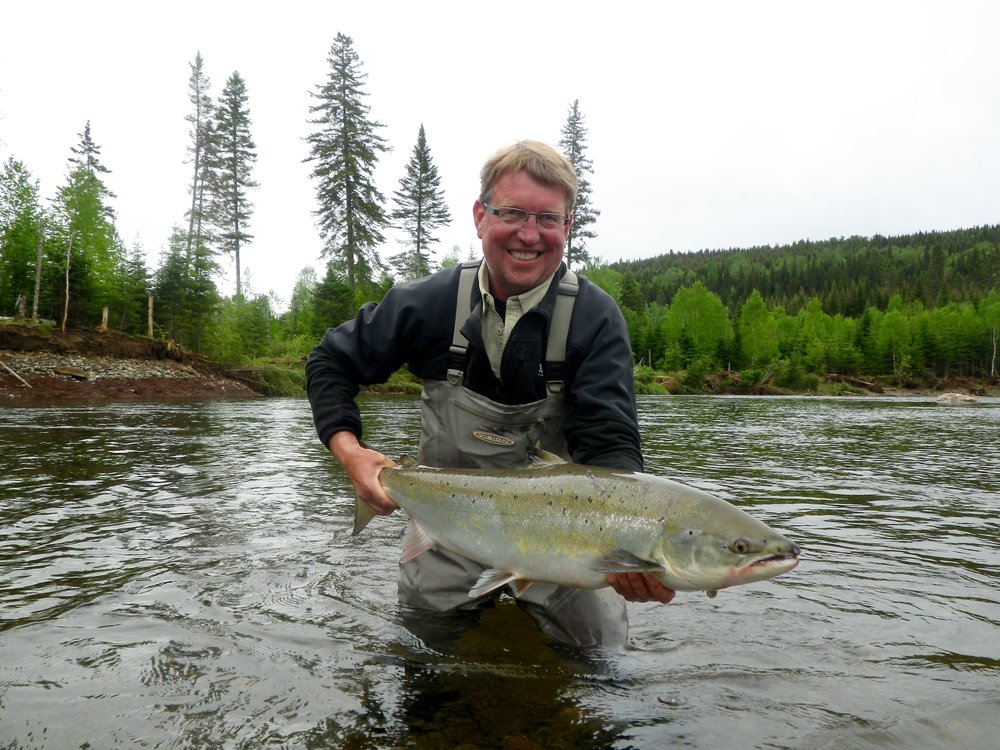 Briar Bredenbrucher with a nice salmon, Congratulations Birgar, see you next year!
