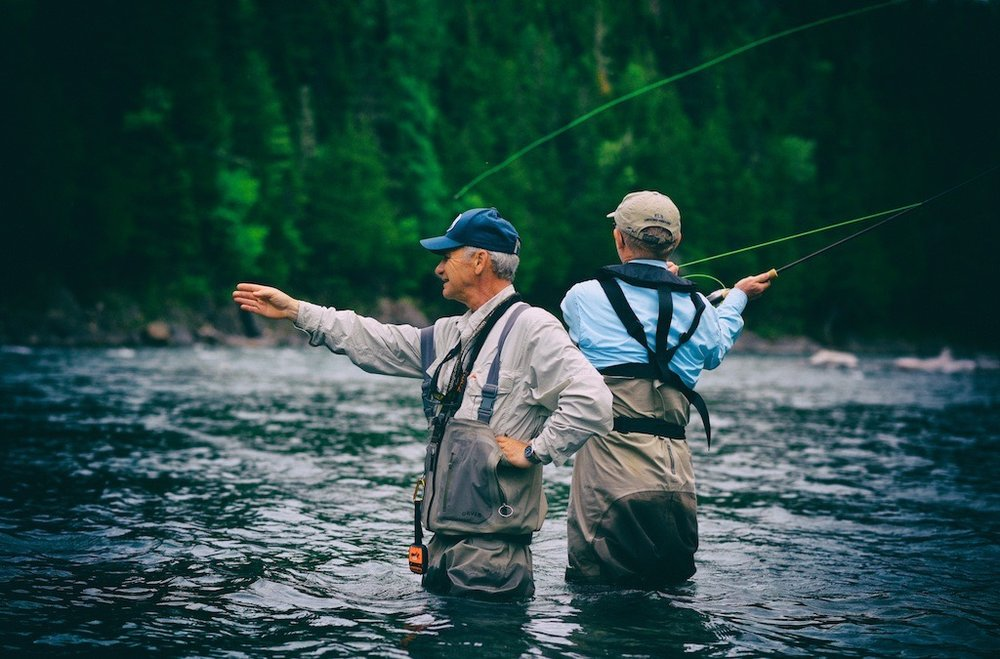 Camp Bonaventure master guide Bruno LePage sure knows where the fish hold.