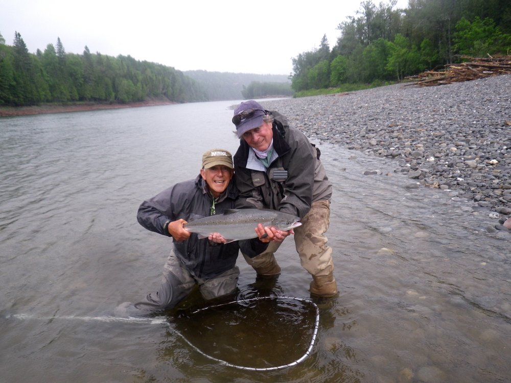 David Mann from Nova Scotia has been a regular at Camp Bonaventure for years, he knows how to catch fish, nice one David!