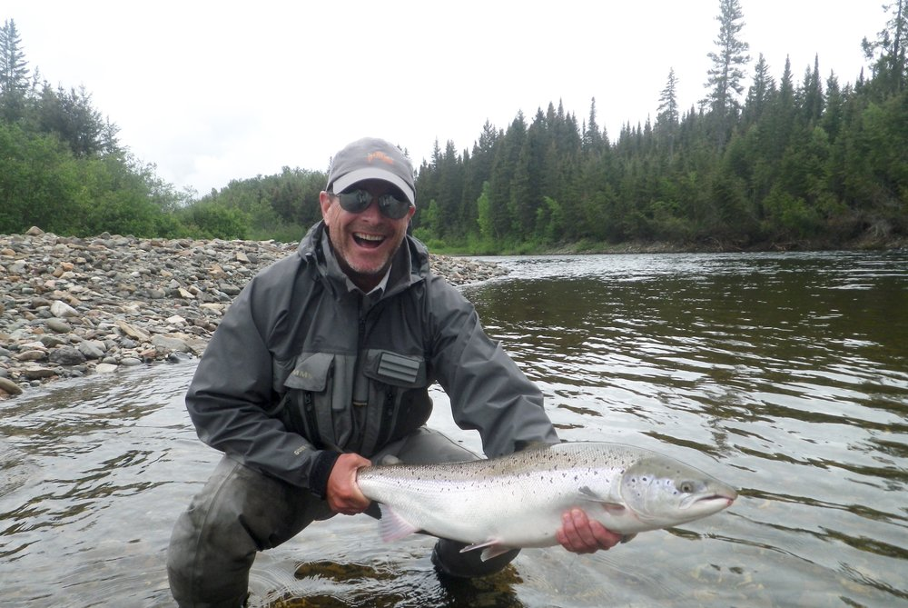 Frederic Beauchemin lands his first salmon of the season, Congratulations Frederic!