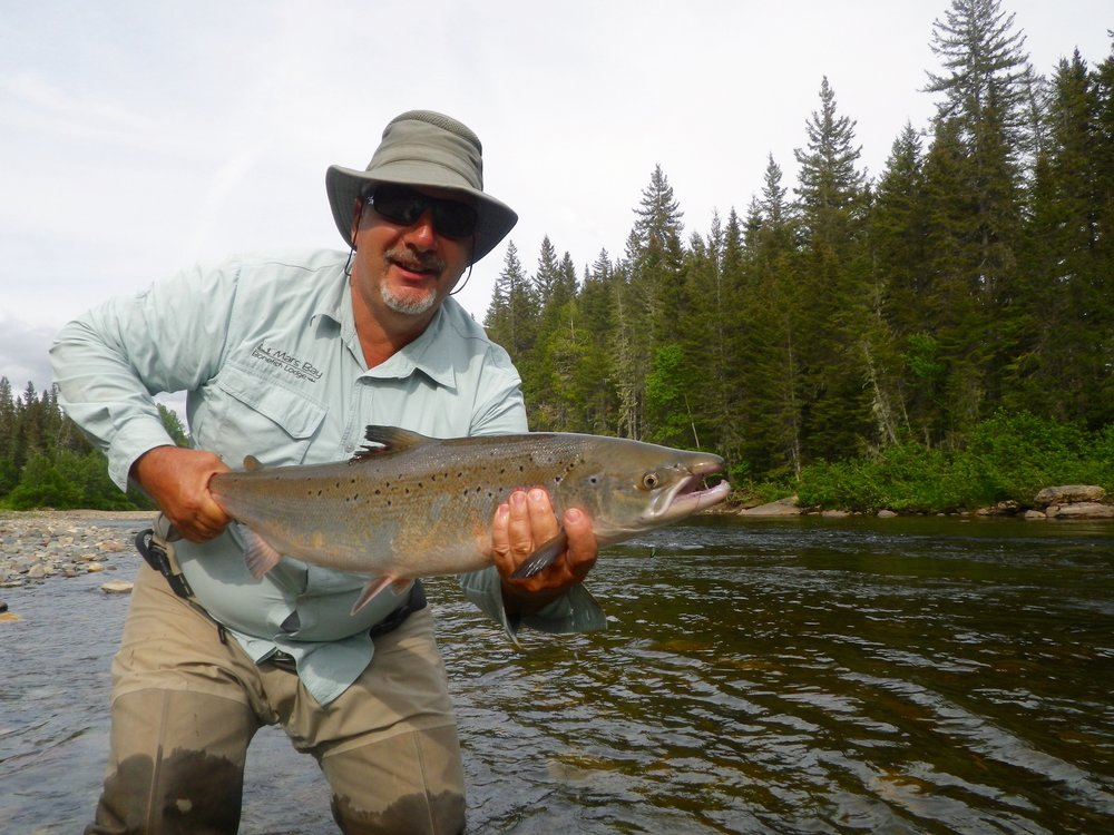 Gaetan Joly have been coming to Camp Bonaventure for many years, he sure knows how to catch them! Nice one Gaetan