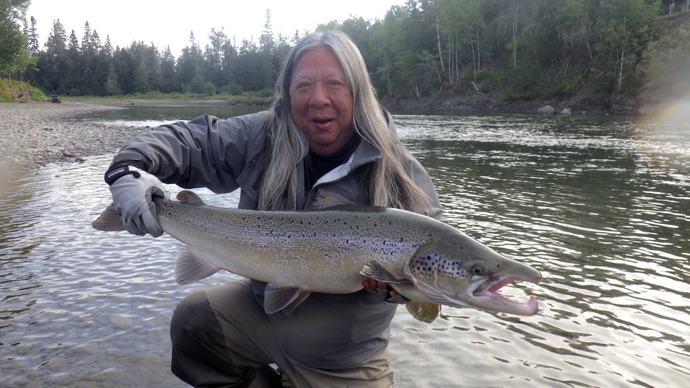 John Rocha is no stranger to Camp Bonaventure or salmon fishing, john is a great angler and gets it done everytime, nice one John!