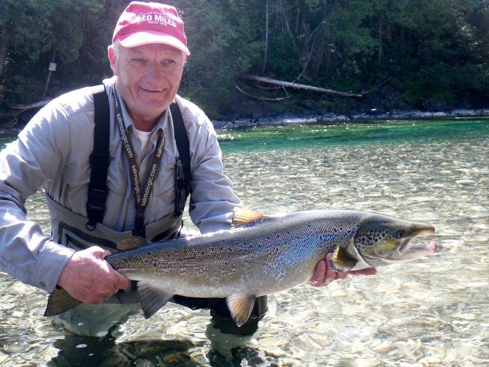 Brian Anderson who owns a fly shop in Ireland hss been a regular at Camp Bonaventure for a few years. Nice one Brian!
