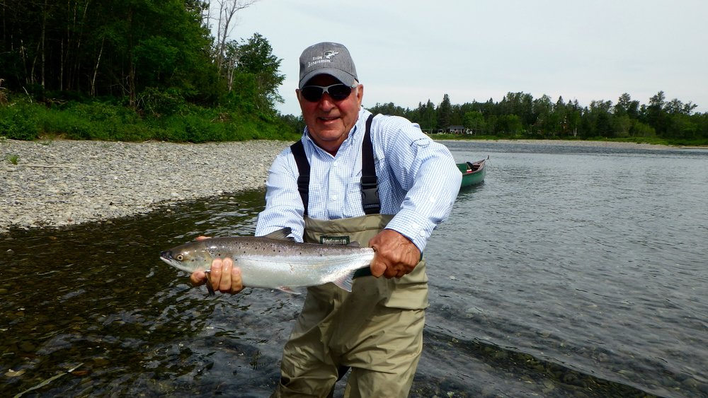 Camp Bonaventure regular Serge Gagne sure know how to catch them, Nice one on our Poirier pool Serge!