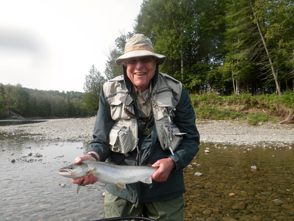 Don with a nice fresh run grilse, well done Don!