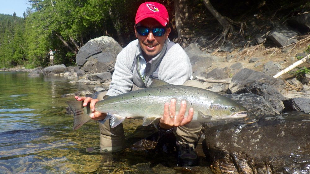P ancho Panzer from Argentina with a nice Bonaventure salmon, congratulations Pancho, see you next year